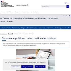 Commande publique : la facturation électronique