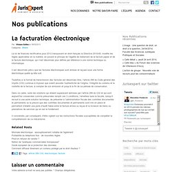 La facturation électronique