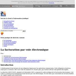 La facturation par voie électronique (édité par Net-iris)