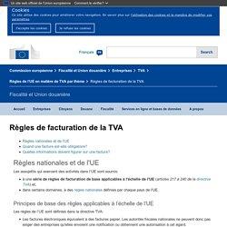 Règles de facturation de la TVA