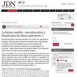 La facture mobile: une alternative à Paypal pour les micro-paiements?