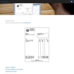 Info facture devis facturation : Exemple de devis