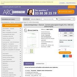 Facturier Auto-entrepreneur A5 210 x 148 mm Exacompta 13293E