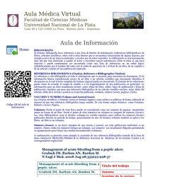 Aula Médica Virtual Facultad de Ciencias Médicas Universidad Nacional de La Plata