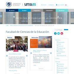 FACULTAD DE CIENCIAS DE LA EDUCACIÓN - Universidad de Málaga