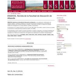 ENSAYOS. Revista de la Facultad de Educación de Albacete