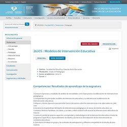 pmodelo - FACULTAD DE FILOSOFÍA Y CIENCIAS DE LA EDUCACIÓN - UPV/EHU