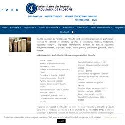 Universitatea Bucuresti - Facultatea de Filosofie