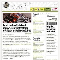 KSU: Satirische Faculteitskrant uitgegeven uit protest tegen prostitutie-artikel in Geestdrift
