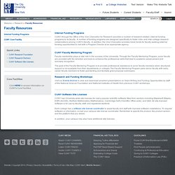 Faculty Resources - Research - CUNY