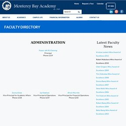 The Faculty Directory Of Monterey Bay Academy That Wins Awards