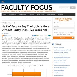 Half of Faculty Say Their Job is More Difficult Today than Five Years Ago