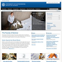 Start Page - The Faculty of Science, University of Gothenburg, Sweden
