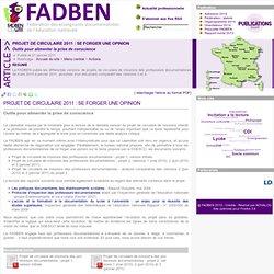 FADBEN: projet de circulaire 2011