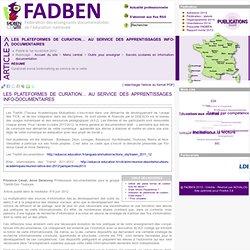 La curation au service des apprentissages info-doc - Fadben