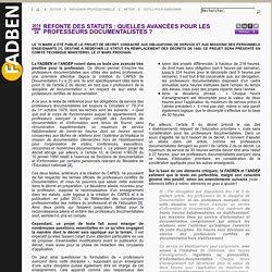 Décret Août 2014 refonte statut - Réaction FADBEN