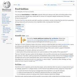 Food faddism