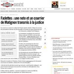Fadettes: une note et un courrier de Matignon transmis à la justice