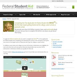 FAFSA: Student Aid on the Web