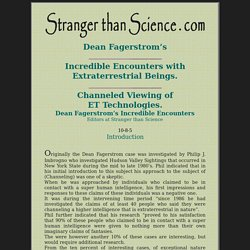 Dean Fagerstrom's Incredible Encounters.