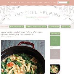 Vegan Pasta e Fagioli Soup