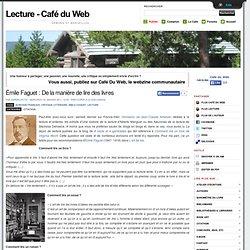 Émile Faguet : De la manière de lire des livres