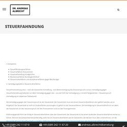 Steuerfahndung « Kompetenzen « Andreas Albrecht