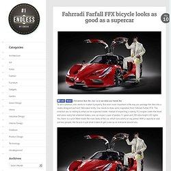 Fahrradi Farfall FFX bicycle looks as good as a supercar