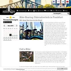 Bike-Sharing: Fahrradverleih in Frankfurt