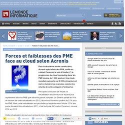 Forces et faiblesses des PME face au cloud selon Acronis