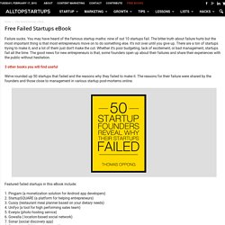 Free Failed Startups eBook