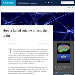 How a failed suicide affects the brain