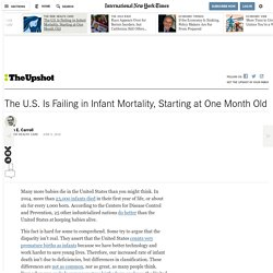 The U.S. Is Failing in Infant Mortality, Starting at One Month Old