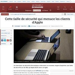 Cette faille de sécurité qui menace les clients d'Apple