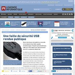 Une faille de sécurité USB rendue publique