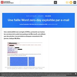 Une faille Word zero-day exploitée par e-mail