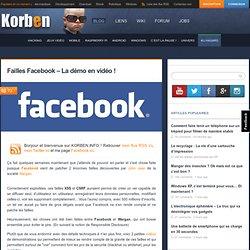 Failles Facebook – La démo en vidéo !