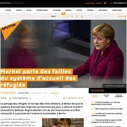 Merkel parle des failles du système d'accueil des réfugiés