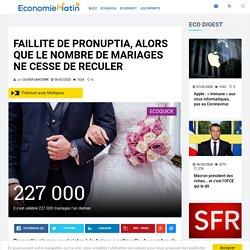 Faillite de Pronuptia, alors que le nombre de mariages ne cesse de reculer