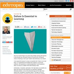 Failure Is Essential to Learning