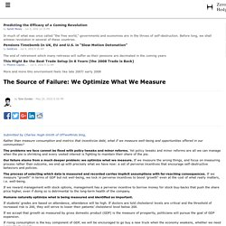 The Source of Failure: We Optimize What We Measure