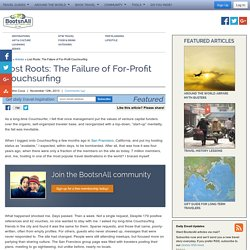 Lost Roots: The Failure of For-Profit Couchsurfing