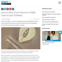 journi: From Failure To 10,000 Users