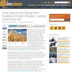Crop Failure and Fading Food Supplies: Climate Change's Lasting Impact