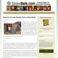 Failures of Lime Plaster Over a Clay Base