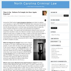 Time is Up:  Failures To Comply Are Once Again Reported – North Carolina Criminal LawNorth Carolina Criminal Law