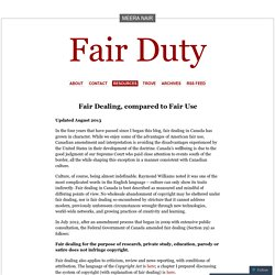 Fair Dealing, compared to Fair Use