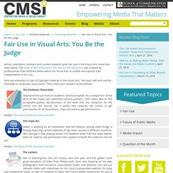 Fair Use in Visual Arts: You Be the Judge