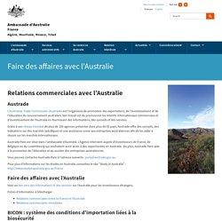 Faire des affaires avec l'Australie