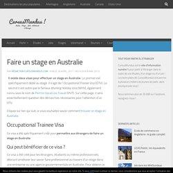 Faire un stage en Australie : Visas et procédures